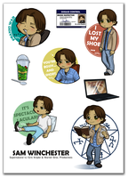 Sam Winchester stickers by Poledrey