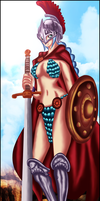 One Piece 704: Gladiator Rebecca by OneBill