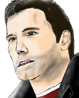 Ben Affleck - Freehand Sketch Practice #4 by wrongpixel