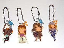 Legend of Zelda Keychains by knil-maloon