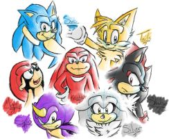 Sonic Sketches by TalaSoyala97