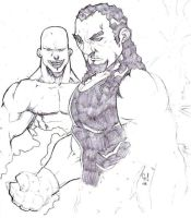 Undertaker and Kane by Slicka