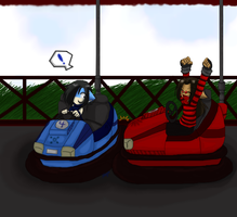 .::Bumper cars ::. by hedgie-girl