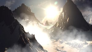 Snowy Mountains Matte Painting by AQWmim
