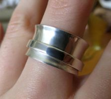 Sterling Silver Spinner Ring by salvagedsword