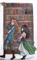 A walk through the library by Sira123