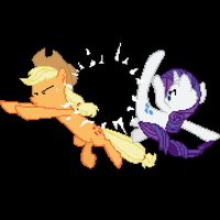 Rarity's Revenge Pixelated by Coltboy