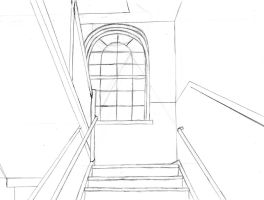 Practice in Perspective: Staircase by LadyQueenBee