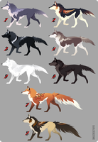 Wolf Adoptables 1 [CLOSED] by Ephryn