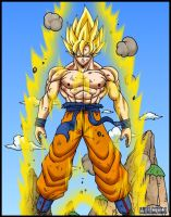 Son goku ssj full power 02 by DBZwarrior