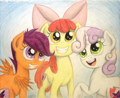 Cutie Marked Crusaders by TheFriendlyElephant