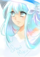 Fan Art Snow Miku by FuonShiro
