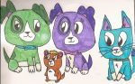 Scout and Friends by SkunkyRainbow270