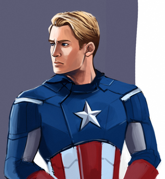 Captain America by teaturtle