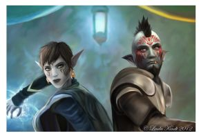 Wren And Aragil by Isriana