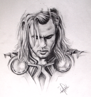 Thor sketch by RonjaKnippers