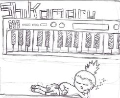 Shikamaru on Piano by Mega-multi1