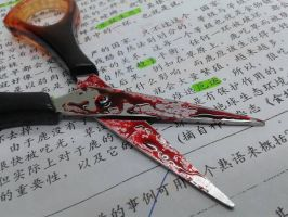 Blood Stained Scissors 2 by UnheardSalvation