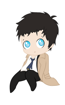 Castiel Chibi by AngelicSociopath