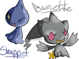 Shuppet and Banette by Chaomaster1