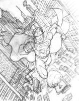 Superman Pencils by AtelierLambert