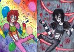 rainbow laughing jack and laughing jack by NENEBUBBLEELOVER