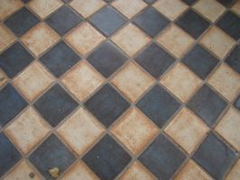 19th century tiles pavement by LuDa-Stock