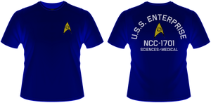 Enterprise Sci Med T-Shirt by viperaviator