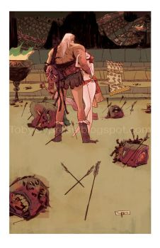 HEAD LOPPER Limited Edition Print by Toby Cypress by TCypress