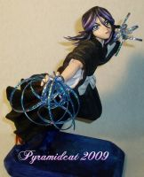 Rukia Sculpture with Kidou by Pyramidcat