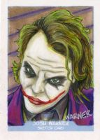 Joker sketch card by JLWarner