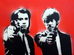 Vincent and Jules Stencil 2 by madragonn