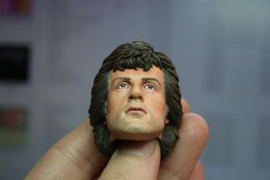 repainted Hot Toys Rambo - 4 by DarrenCarnall