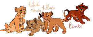 Cubs of Scar's Reign by Draco-Digi