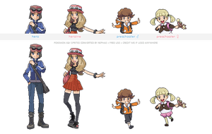 Pokemon XY trainer sprites ( IV ) by Nephae