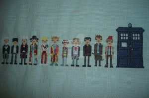 Doctor Who Cross Stitch by iheart8bit