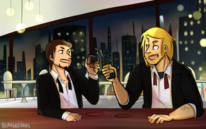 Thor and Tony Bros - part 1 by blargberries