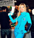 Zero Suit Samus Sporting Panty's Gun by CosplayButterfly