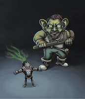 Leper Gnome Overseer by mcgormack
