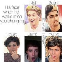 His face when he sees you changing by DirectionForLyfe