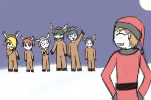 Santa's Helpers: Guys by DarkKnightnojutsu