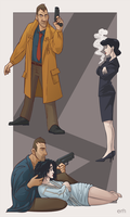 Blade Runner- Deckard and Rachael by ElizabethMartin