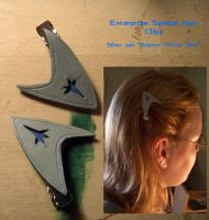 Star Trek Hair Clips by Haunted-Mind