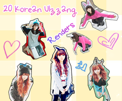Korean Ulzzang Png's Pack ! by STRength106