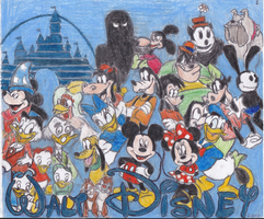 Mickey and Friends by Fairy--Princess