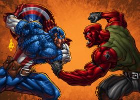Cap vs. Red by ConfuciusRetaliation