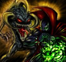 Violator Sneaking up on Spawn by RAM by robertmarzullo