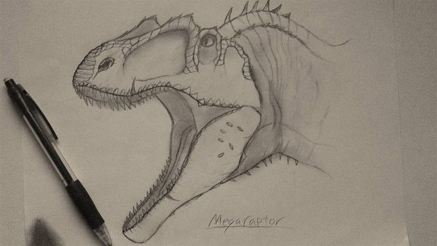Megaraptor - Head by Fate-Darknu-Dragoon