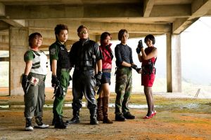 Resident Evil Group Shoot 2 by aiko-mizuno