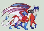 TF - Optima 'n Scree dragonformers by merrypaws